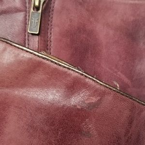 Frye Shoes - FRYE Betty Inside Zip Leather Boots Bordeaux 8